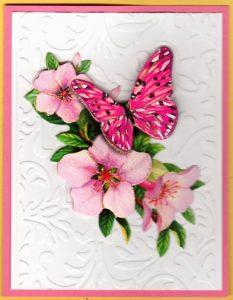 3DButterflyFlowersCard10