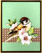 3-D bird and blossom
