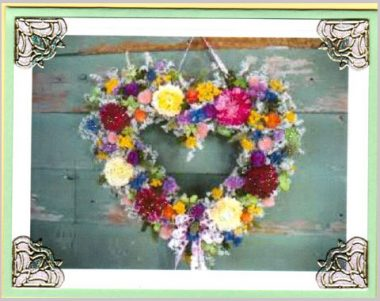 lovely heart wreath