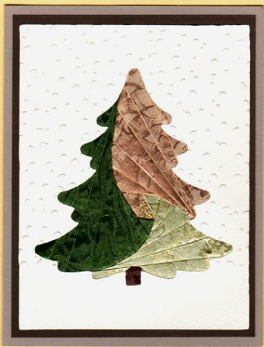 winter pine in green