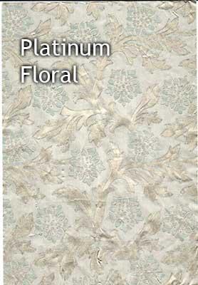 platinum floral foil