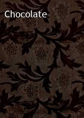 chocolate floral foil