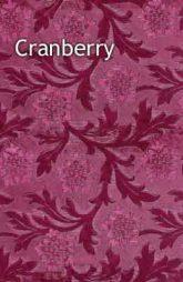 cranberry floral foil