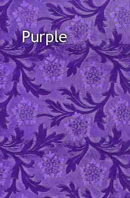 purple floral foil