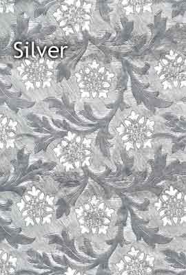 silver floral foil