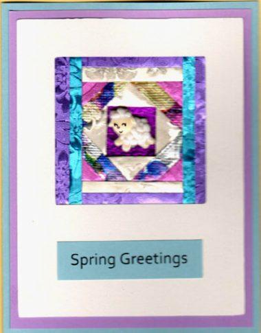 spring lamb quilt