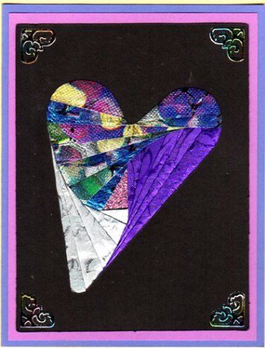 folksy heart with purple passion