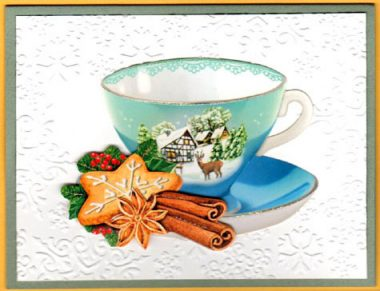 winter tea cup