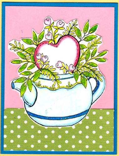 heart tea pot