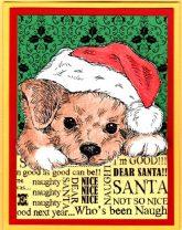dear santa puppy