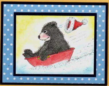 tub sledding