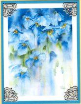 watercolor dainty bluebells
