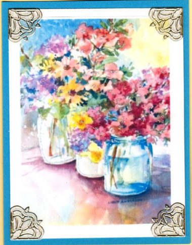 watercolor spring blooms