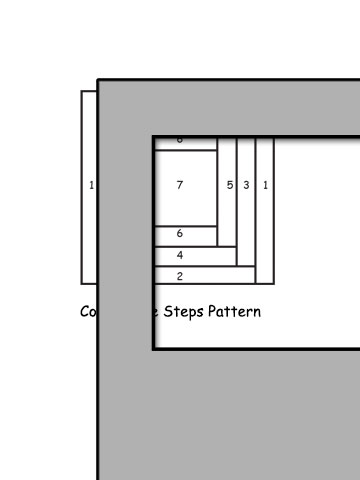 pattern for courthouse steps