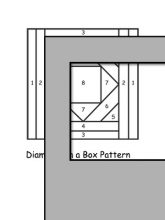 pattern for diamonds in a box