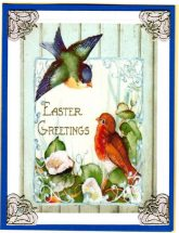 easter greeting birds