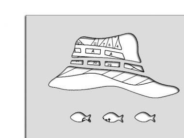 die cut package for guys hat