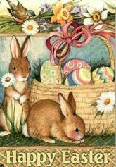 happy easter bunnies