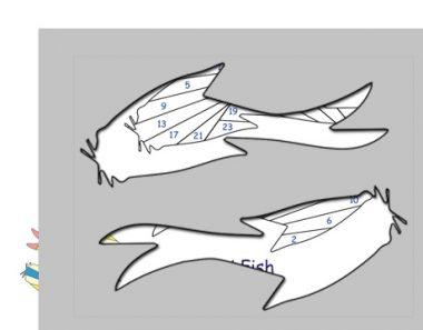 pattern for koi fish