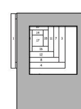 pattern for log cabin