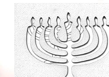 pattern for menorah