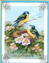 easter blue birds