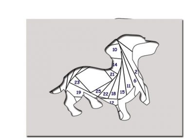 pattern for playful puppy