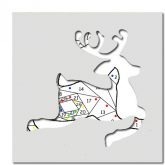 pattern for reindeer leaping