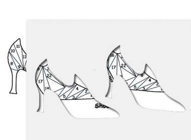 pattern for shoes