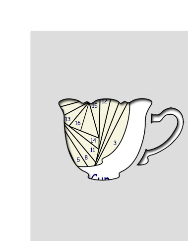 pattern for tea cup