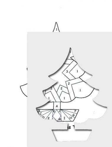 pattern for triore christmas tree