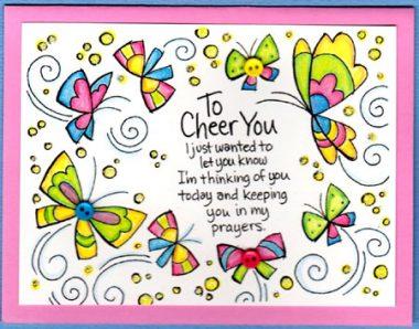 cheer with butterflies