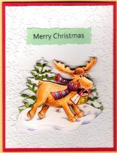 3D christmas moose